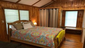 Cabin Rental Queen Bedroom
